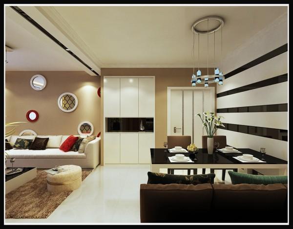 誉天下-108平米现代简约风格-客厅效果图