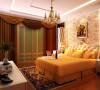 简欧风格两居室,暖色系的主打。