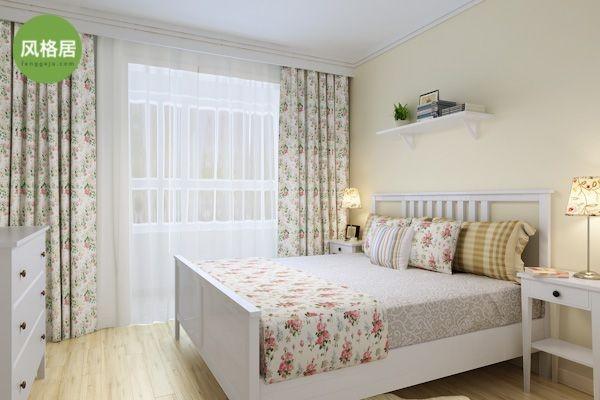 超凡装饰—清华大溪地—117平三室两厅—田园风格—设计师高优—卧室