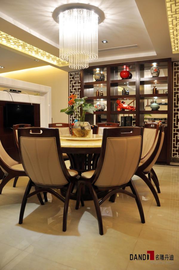 名雕丹迪别墅设计--天御山别墅--现代中式--餐厅