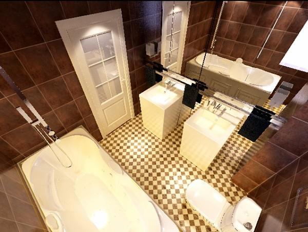 国际城四期三居室现代简约风格卫生间装修设计效果图展示