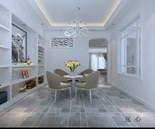 金域蓝湾复式楼后现代风格装修设计案例【餐厅设计效果图】