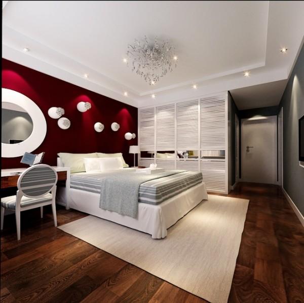 国际城四期三居室现代简约风格卧室装修设计效果图展示