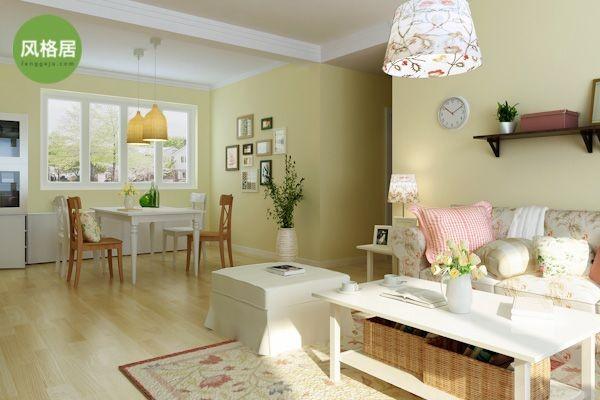 超凡装饰—清华大溪地—117平三室两厅—田园风格—设计师高优—客餐厅
