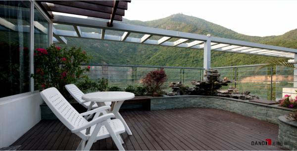 名雕丹迪别墅设计--东方尊峪别墅--现代风格--阳台