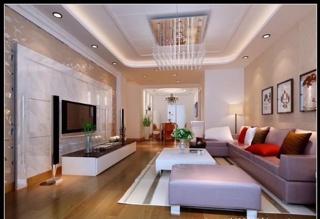 成都实创装饰—整体家装—150平米—客厅装修效果图