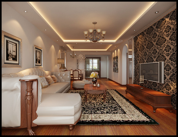 取而代之的是简单的线条,带给人舒适的质感,这也符合了设计的本意,家以舒适,自然为主。
