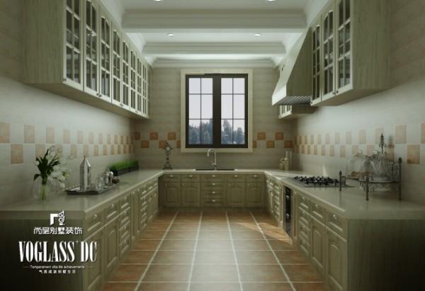 厨房—造型设计上既要突出凹凸感,又要有优美的弧线。