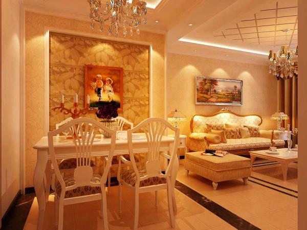餐厅墙面古典的造型使整个空间活跃了起来,让业主在工作之余又一份惬意的环境和心情!