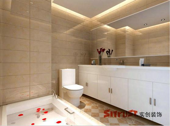 成都实创装饰—整体家装—150平米—卫生间装修效果图