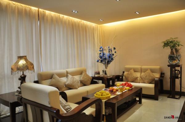 名雕丹迪别墅设计--天御山别墅--现代中式--客厅