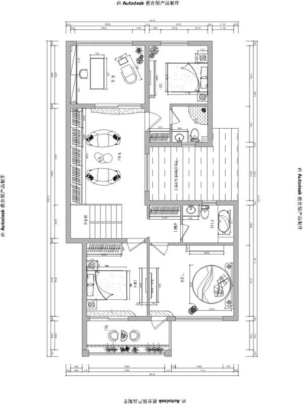 清水苑二期300平方别墅装修案例【户型装修设计效果图】