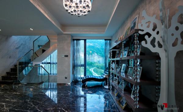 名雕丹迪别墅设计--东方尊峪别墅--现代时尚--二楼过厅