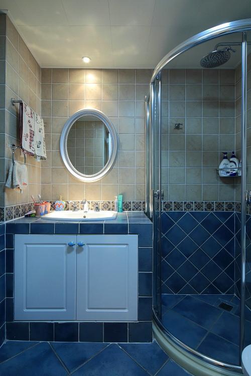 卫生间像是地中海风格