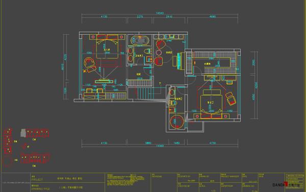 名雕丹迪别墅设计--天御山别墅--现代中式--二楼平面图