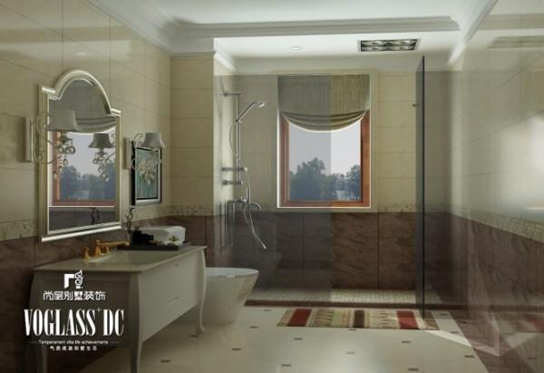 卫浴间—简化了线条。在造型设计上既要突出凹凸感,同时富有优美的弧线,增强实用感。
