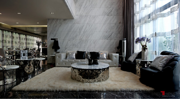 名雕丹迪别墅设计--东方尊峪别墅--现代风格--客厅
