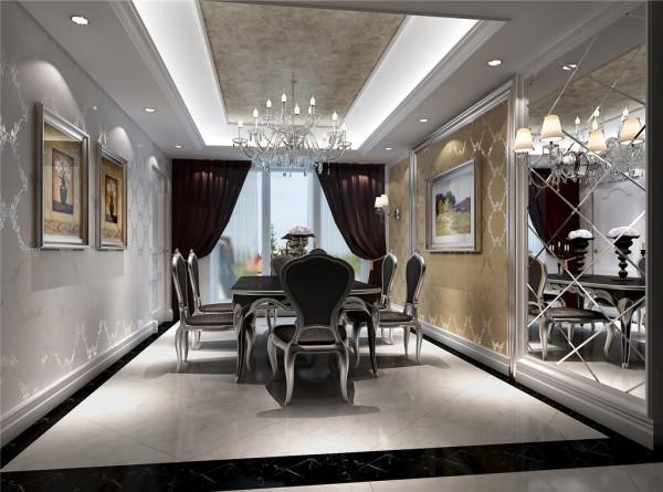 布艺沙发组合有着丝绒的质感以及流畅的木质曲线,将传统欧式家居的奢华与现代家居的使用性完美的结合。这个户型的亮点就是电视背景墙使用隐形门设计,使电视背景墙对称,视觉感官更整体。