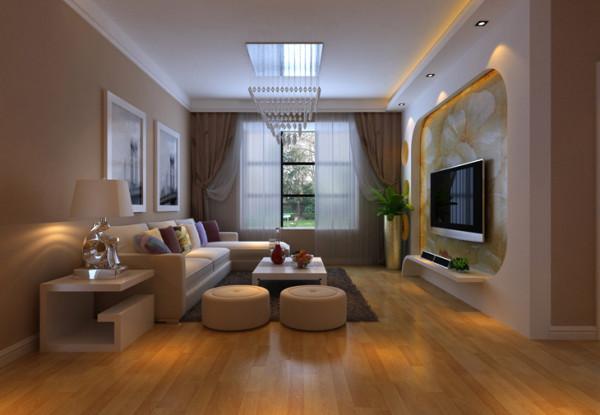 银基王朝三居室客厅装修效果图