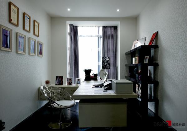 名雕丹迪别墅设计--东方尊峪别墅--现代风格--书房