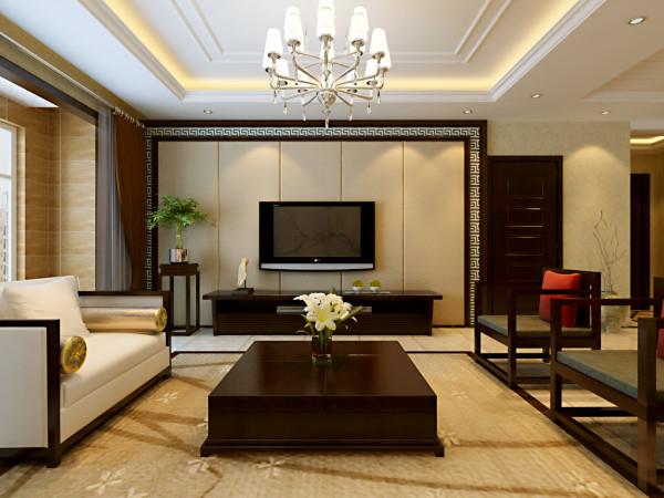 业之峰装饰为祥云国际146平三居室做的新中式设计图