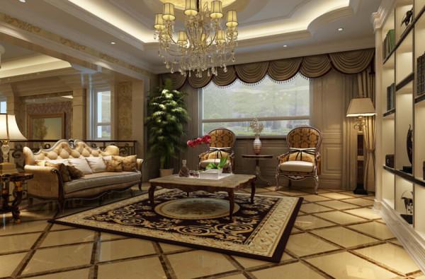 虽然在地下一层设计了一个高挑空的客厅,但是这个会客厅还是起到很大作用的,两个老人房,还有一个入户的门厅,它是这几个空间的汇集点,同时也作为整个一层的公共休息区域。