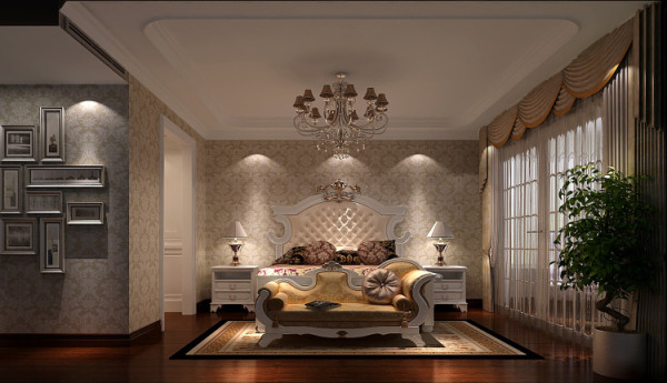 欧式风格总是给人以富丽堂皇、雍容华贵的感觉,卫生间也不例外。虽然这个卫生间本身并不大,但是华丽的灯 具、镜子、小饰品、再加上欧式的壁纸,整个卫生间自然而然就流露出一种西洋的调子。