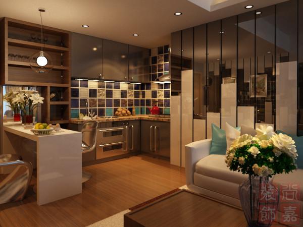 尚嘉装饰----开放式厨房