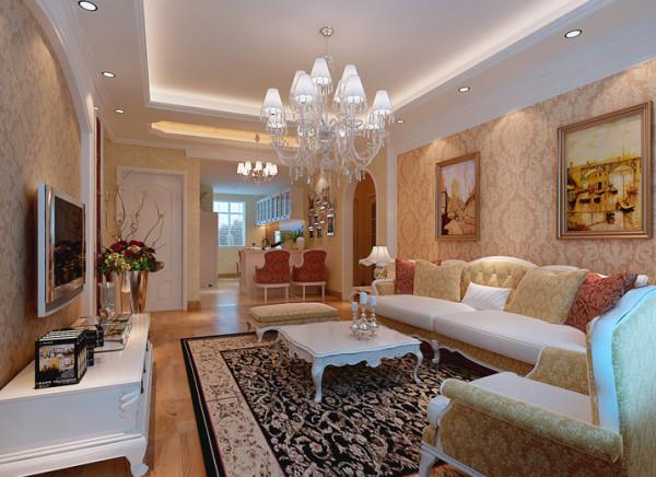房子为三室两厅户型,格局合理,采光通风都比较好。进门处鞋柜和衣帽柜的设计,考虑的功能的划分。简约和欧式并存的电视背景墙造型及温馨大方的壁纸很好的烘托了客厅的气氛。