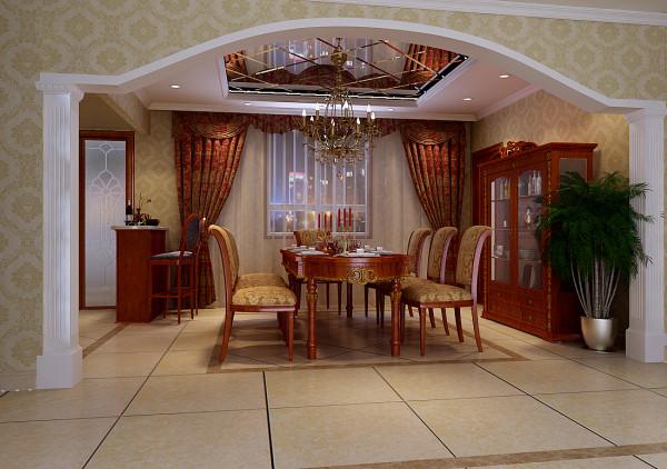 2米的大餐桌和吧台酒架的规划,闲暇时品一点红酒,休闲放松中