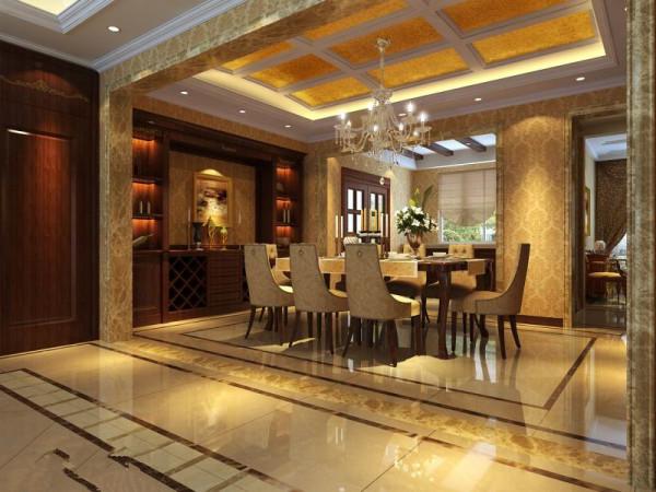 业主是成功商人,对家的要求也更倾向华丽,整体风格定义为欧式奢华,对户型进行了局部改造,将原来的入户花厅改为了实用功能更强的衣帽厅,而原来的门厅变得更为大气华丽