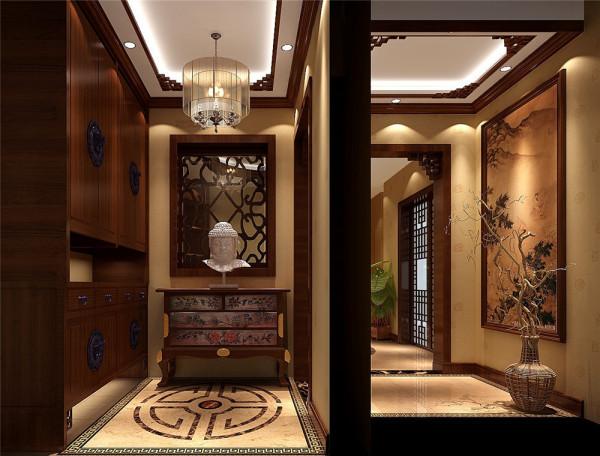 本案设计古朴典雅,能反应出强烈的民族文化特征,让人一看就容易理解其文化内涵,特别是对中国人,更是有一种亲和力。所以现在很多室内设计师都很喜欢采用这种风格。