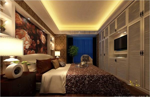 鑫苑世家三居室平层简约风格装修效果图 卧室装修效果图