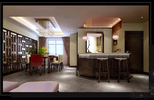 银基王朝中式风格280平方装修效果图【餐厅装修效果图】