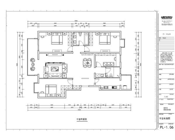 正商新蓝钻三居室户型图展示整体户型结构比较方正,个