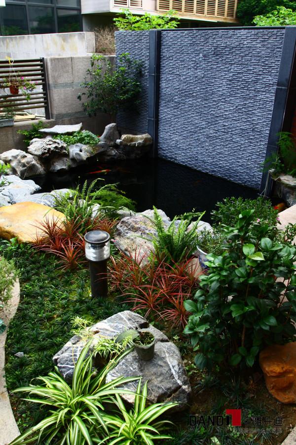 名雕丹迪设计--金地九珑璧别墅--新中式花园