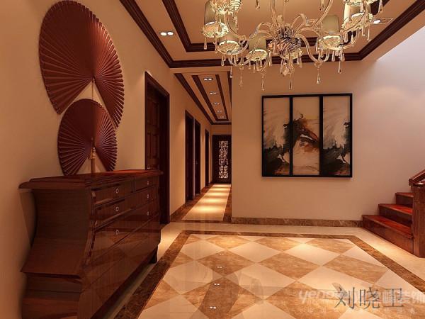 郑州市天地湾220平方别墅装修设计案例【一层过道设计效果图】