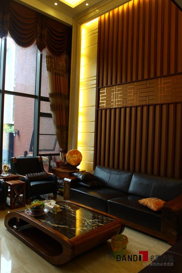 名雕丹迪设计--金地九珑璧别墅--新中式沙发