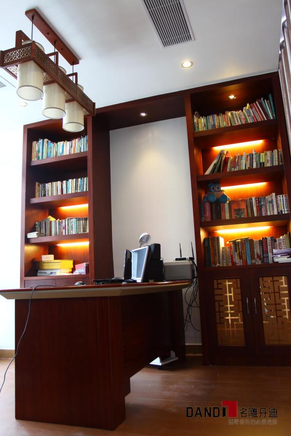 名雕丹迪设计--金地九珑璧别墅--新中式书房