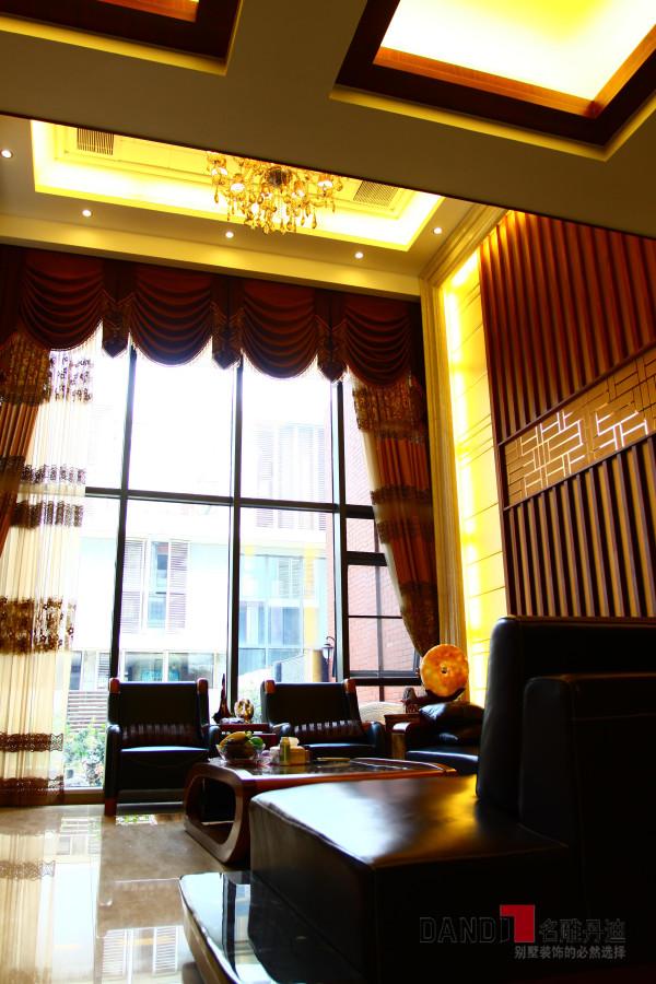 名雕丹迪设计--金地九珑璧别墅--新中式客厅