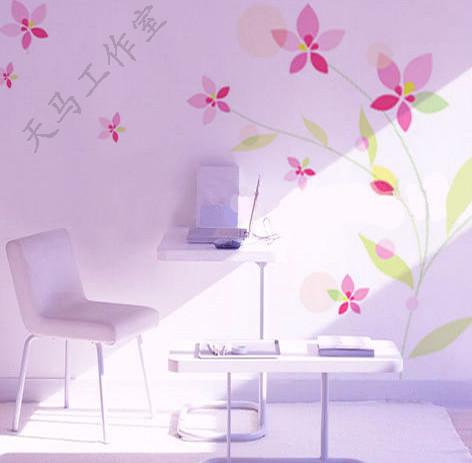 手工绘制墙画,原生态灵动美