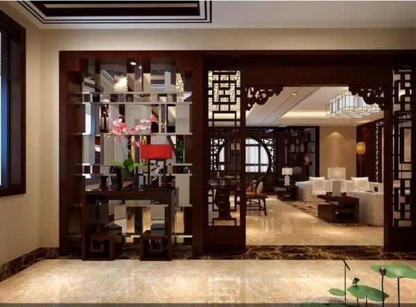 大户型中式风情美景室内图