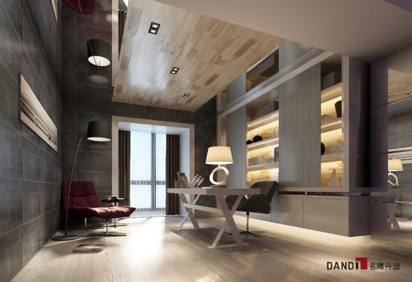 名雕丹迪设计—依云水岸别墅—现代风格—书房
