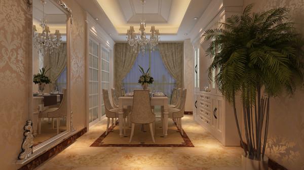 法式座椅质朴简单中不失大气,墙上镜面装饰,艺术性十足,给人带来无限的遐想,低调中透漏着奢华;