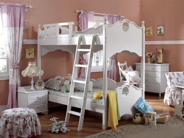 公主式双层小床,