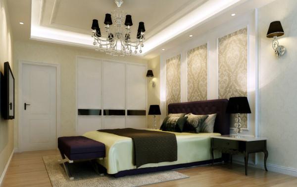圣堤亚纳120平欧式风格-卧室效果图