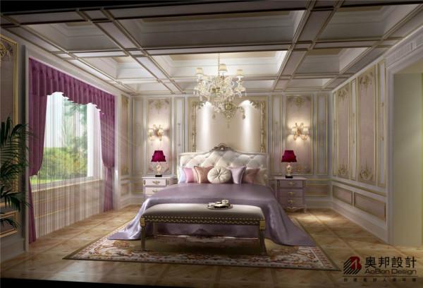 感觉整洁的卧室设计,高雅的星星点点紫色,在圣洁的白色映衬下是显得那样的鲜艳自然