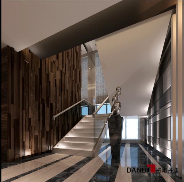 名雕丹迪设计—依云水岸别墅—现代风格—楼梯