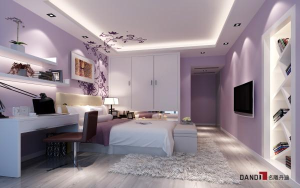 名雕丹迪设计—依云水岸别墅—现代风格—卧室