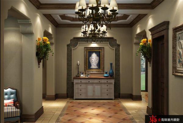 美式别墅别墅装修东合设计玄关